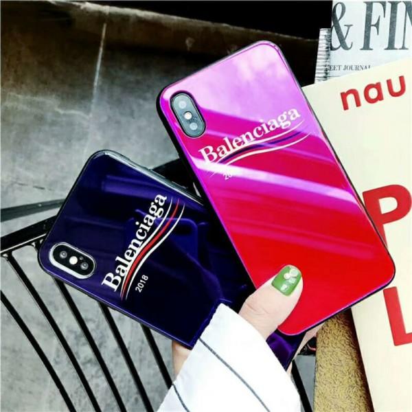バレンシアガ Iphone 12/12 pro/12 pro max/se2ケース 背面ガラス ブランド Balenciaga IPhone 12 mini/X/Xs Max/XR/11 Proスマホケース ジャケット型 アイフォン11 pro max/8/7/6/6sカバー 四角保護 レディーズ