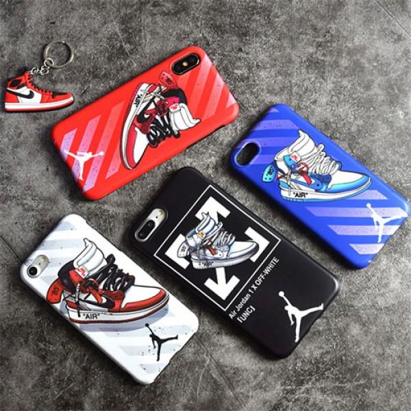 Air Jordan オフホワイト ブランド iPhone 12 pro/12 mini/12 pro max/11 pro max/se2ケース バスケットボール靴 絵柄 スニーカー ジャケット off white ジョーダン アイフォン12/11/11 pro/x/xr/xs max/xs/8/7/6/6Sスマホケース メンズ レディース