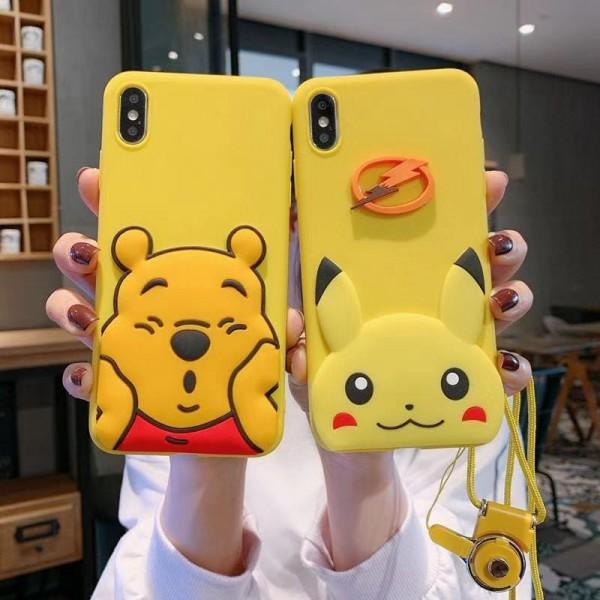 クマのプーさん Winnie-the-Pooh iphone 12/12 pro/12 pro max/11/se2ケース バング型 ピカチュウ ポケットモンスター Galaxy s20/s10/s9/s9/s8/note10/note9ケース 韓国風 斜め掛け Huawei p40/p30/p20/mate30/mate20/Nova 4e/Nova 3e/Honorケース OPPO R15/R17ケース  アイフォンx/xs/xr/8/7/6カバー