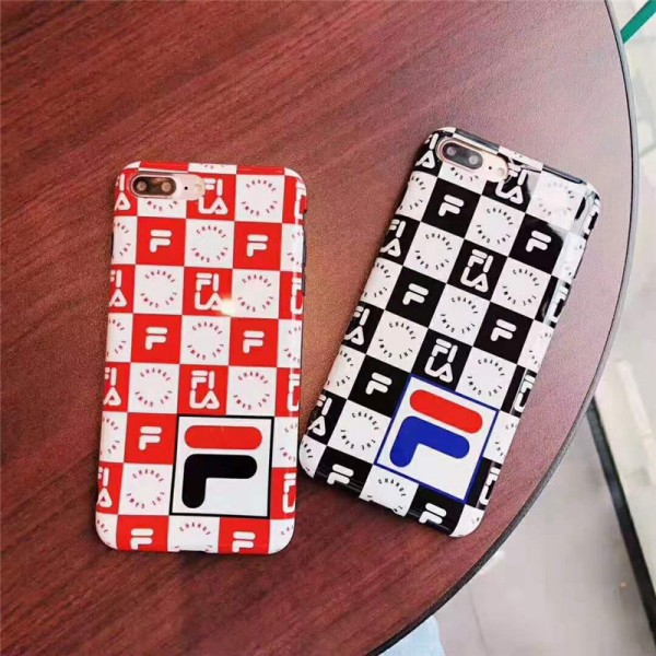 FILA 格子柄 iphone 12/12 pro/12 mini/12 pro max/11/11 pro/11 pro max/se2ケース 個性 ブランド フィラ 人気 チェック柄 Filaお洒落 ペアお揃い アイフォンx/xr/xs max/8/7 plusケース ファッション メンズ レディース