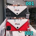 Fila ブランド iphone 12/12 pro/12 mini/12 pro max/11/11 pro/11 pro max/se2ケース 封筒型 フィラ オシャレ 個性 韓国風 ストラップ付き FILA  レザー アイフォン x/xr/xs max/8/7 plusケース カード入れ ポケット付き ファッション レディース