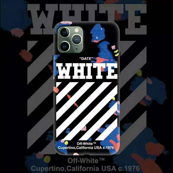 off-white/オーフホワイト ブランド iphone12/11/11 pro/11pro max/se2ケース 個性 ジャケット型 純黒 矢印 人気 落書き柄 アイフォンx/xr/xs/xs max/8/7 plusケース ファッション メンズ レディーズ
