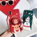 クリスマス柄 iphone 12/12 pro/12 mini/12 pro max/11/11 pro/11 pro max/se2ケース ボタン付き クリスマス鹿 iPhone X/XS/XRケース オシャレ ポーラーベア スタンド機能 シリコン製 アイフォンx/xs/xr/8/7 plusカバー メンズ レディーズ
