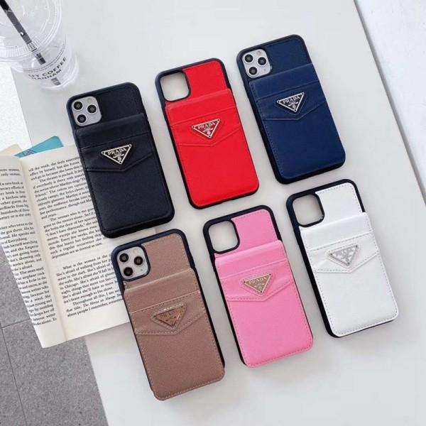 プラダ ブランド Iphone12/12 Mini/12 Pro Max/12 Proケース Prada iPhone11/11 Pro Max/11 Proケース バッグ型 収納可能 TPU 耐衝撃 ステッチ 財布 スタンド機能 アイフォンx/xs/xs/7/8/se2カバー コピー