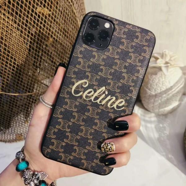 Celine ブランド Iphone 12 Mini/12 Pro/12/12 Pro Max/11/11 pro/11 pro maxケース 韓国風 ストラップ付き セリーヌ デニム風 モノグラム ヒョウ柄 おまけつき 衝撃吸收 LINE注文 アイフォンx/xs/xr/8/7/6カバー レディース愛用