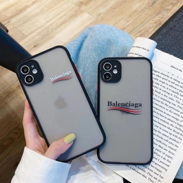 バレンシアガ iphone 12 pro/12 mini/12 pro max/11 pro/11 pro maxケース ブランド クリアケース モノグラム balenciaga シンプル ソフト 衝撃吸收 シリコン アイフォン12/11/x/xs/xr/8/7/se2カバー メンズ レディース
