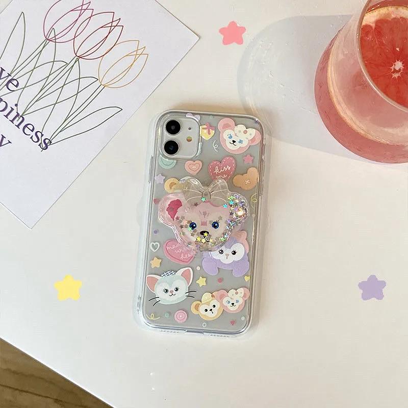 東京ディズニーシー iphone 11/11 pro/11 pro max/se2ケース 透明ケース シリコンケース ダフィーとフレンズ duffy and friends ダッフィー