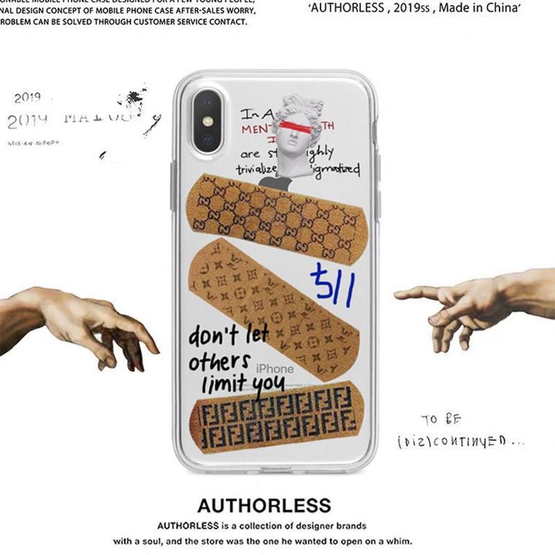 グッチGucciヴィトンlvフェンディFendiブランドiphone12pro/12mini/12pro max/11ケース 可愛い クリア 石膏 バンドエイド キラキラ 女性愛用 アイフォンse2/x/xs/xr/8/7カバー
