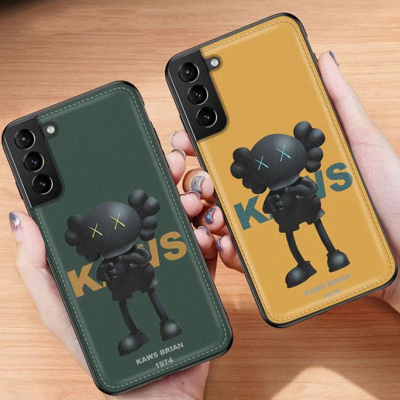 Kaws ブランド iphone12/12 pro/12 pro max/11 pro maxスマホケース レザー カウズ 人気 ブランド Galaxy S21/S21+/S21 ultra/s20/s20+/s20 ultra/s10/note20ケース シンプル  KAWS Brian 韓国風 アイフォン